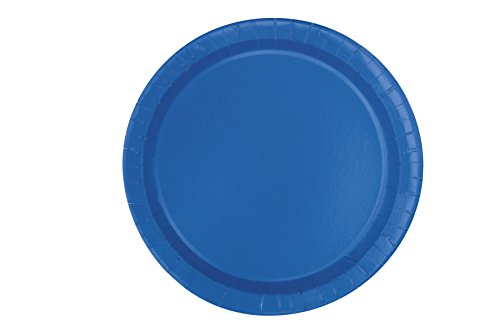 Royal Blue Paper Cake Plates, 20ct (Ocean Theme Flatware)