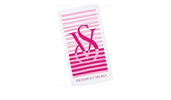Victoria de Secret toalla de baño/toalla de playa/Toalla - rosa a rayas-: Amazon.es: Hogar