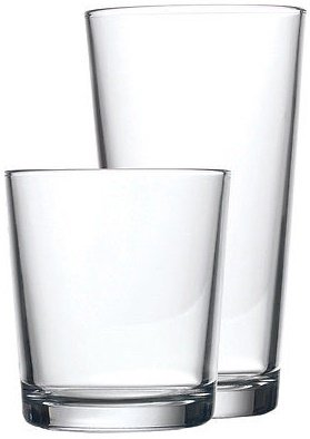 Oz Plastic 14 Stein (Circleware 44088 Huge 16-Piece Set of Highball Tumbler Drinking Glasses and Whiskey Cups, Home & Kitchen Party Glassware for Water, Beer, Juice, Ice Tea, Bar Beverages, 8-15.7 oz & 8-12.5 oz, 16pcs)