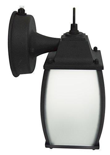 - MaxLite ML4LS12SRLBK827 Outdoor Fixture 12W Led LSD Ranch Lantern 2700K Black Finishes ≫80CRI Etch Glass,