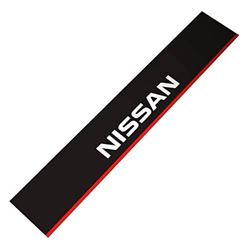 Demupai Front Windshield Banner Decal Vinyl Car Stickers for Nissan (Matte Black Background) ()