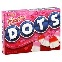 Dots Cherry, Vanilla, and Passion Fruit flavored gum drops (Valentine Dots)