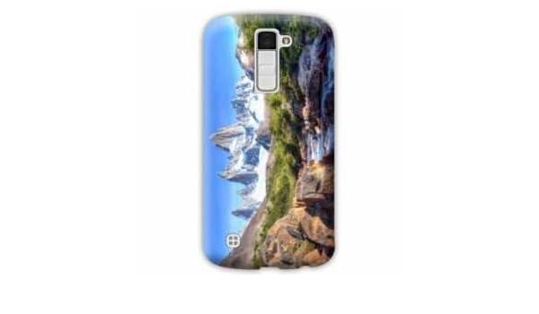 Amazon.com: Case Carcasa LG K10 Montagne - - cascade pierre ...