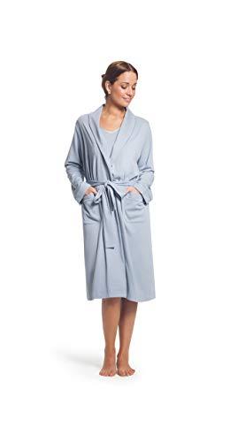 - Smoking Collar Classic Robe (Romantic Rose/Soft Cream Stripes, Large XLarge)