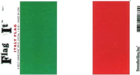Truck or Boat Italy Flag Decal for auto