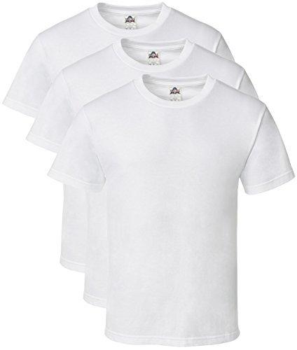 White Classic T-shirt (Alstyle Men's Classic Cotton Crew Neck Short Sleeve Plain T-Shirt 3-Pack-Assorted (Medium, White, White, White))