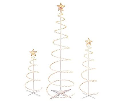Image Unavailable - Amazon.com: Set Of 3 Lighted Spiral Christmas Trees - 3 Ft 4 Ft And