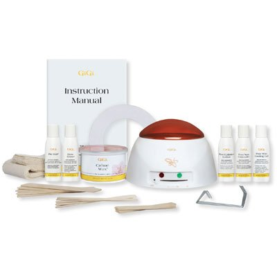 GiGi-Mini-Professional-Hair-Waxing-Kit-with-Wax-Warmer-Features-Temperature-Control-Knob-and-See-Through-Cover-and-OnOff-Indicator-Crme-Wax-14-Oz-and-Assorted-Muslin-Strips-Applicators-with-PrePost-Wa