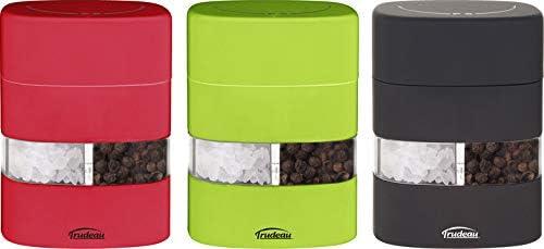 Trudeau Mini 2 in 1 Salt and Pepper Mill in Black Red or Green