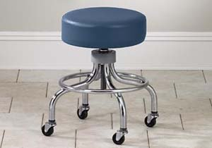 CLINTON VALUE SERIES STOOLS-CLASSIC CHROME Adj chrome stool w/ round footring Item# 2102
