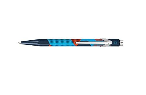Caran D'ache Ballpoint Pen Pop Dots Mdnt Blue