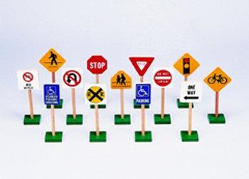 MotivationUSA TRAFFIC SIGNS 7IN 13/PK (Traffic Guidecraft Signs)