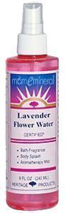 Heritage Products Flower Water with Atomizer Lavender -- 8 f
