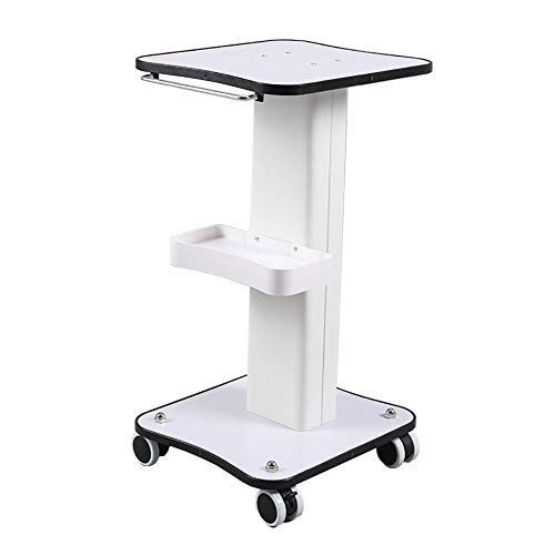 Medical Cart Tool Mobile Beauty Rolling Trolley with Handle, Small Bubble Cart with Storage Tray, Universal Wheel with Brake, 30kg ()