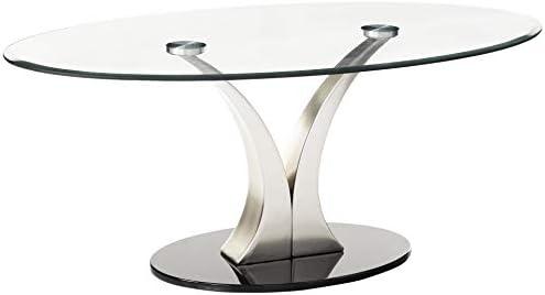 Furniture of America Kassandra Modern Coffee Table, Metallic Finish