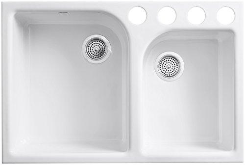 Kohler K-5931-4U-0 Executive Chef Undercounter Kitchen Sink, White by Kohler (Image #1)