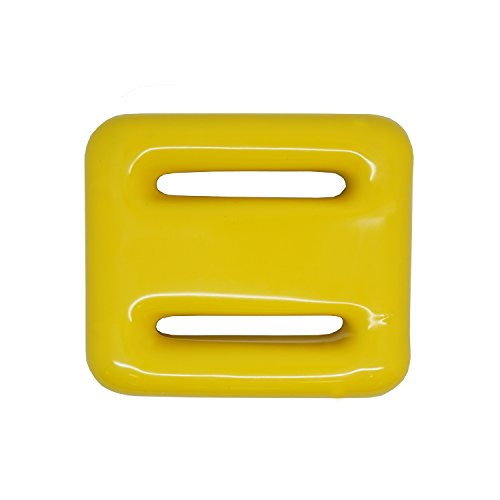 Vinyl Coated Lead Weights - Scuba Choice Yellow Vinyl Coated Diving Lead Weights, 2LB
