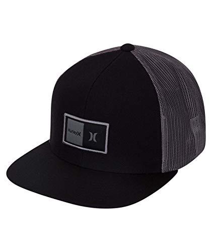 - Hurley Men's Logo Patch Trucker Baseball Cap, Black, Qty