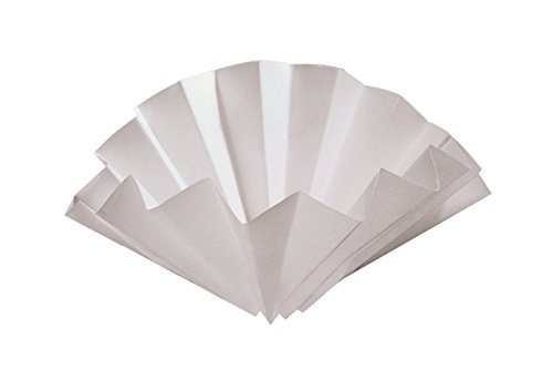 Whatman 10314753 Prepleated Wet Strengthened Cellulose Qualitative Filter Paper, Grade 1573 1/2, Folded, 25, m Pore Size, 320mm Diameter - Pack of 100 by Whatman