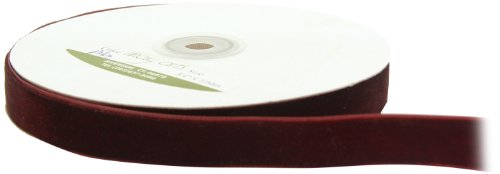 - May Arts 3/4-Inch Wide Ribbon, Brown Velvet