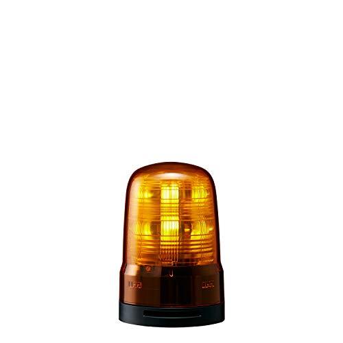 パトライト 回転灯 SF08-M2KTB-Y Φ80 AC100~240V 発光パターン(22種) 黄色 ブザー付 2点穴式取付 プッシュイン端子台