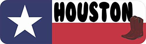 (10x3 Houston Texas Bumper Sticker Texan Flag Car Truck Decal Flags Boot Stickers)