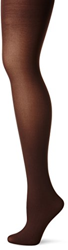 HUE Women's Opaque Sheer to Waist Opaque Tight,Espresso,2
