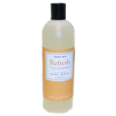Trader Joe's Refresh Citrus Body Wash with Vitamin C - Cruelty Free, 16 Fl Oz (473 mL)