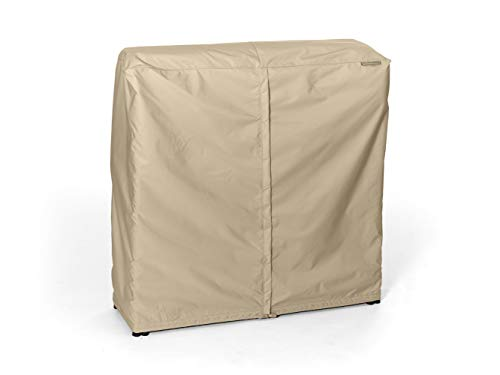 CoverMates – Log Rack Cover – 4 FT 50L x 25W x 44H – Elite Collection – 3 YR Warranty – Year Around Protection - Khaki