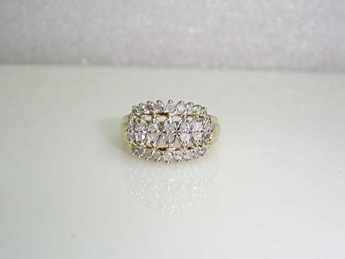 - Cocktail Diamond Ring Set in 10K Yellow Gold Size 7.25 SD-2049