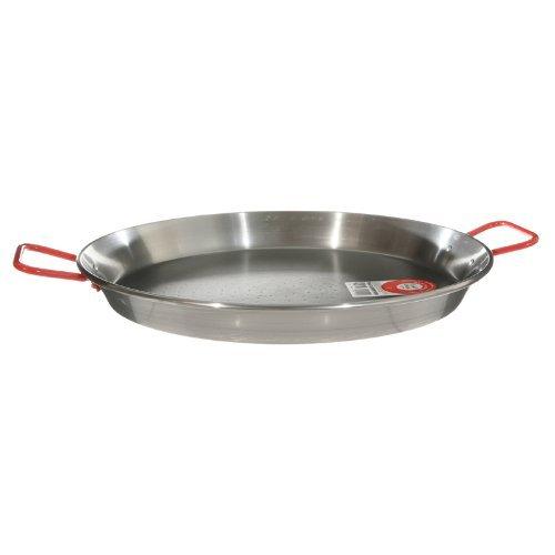 Garcima 13-inch Carbon Steel Paella Pan, 32cm