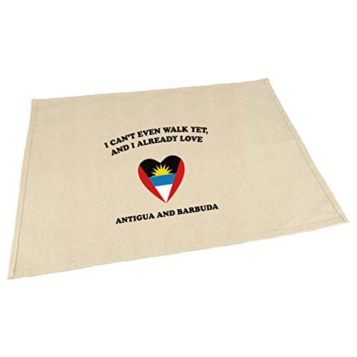 Can'T Walk Already Love Antigua And Barbuda Cotton Canvas Placemat Table Mat