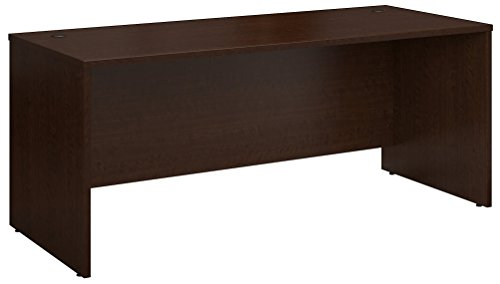 Bush Business Furniture WC12936 Desk, 72W x 30D, Mocha Cherry