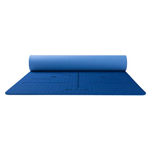Exercise Mats Gymnastics Equipment Yoga Mat Fitness Yoga Mat Sports Mat Dance Mat Sports Yoga Mat Environmental Women Thicken Widening Pad Beginner Yoga Mat (Color : Blue, Size : 183710.6cm)