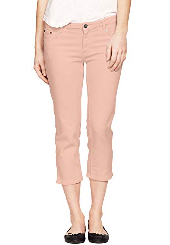 Ellos Women's Plus Size Stretch Slim Capris - Pale Blush, 18