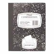Mead Black Marbled Composition Book, Wide Ruled (Pack of 2),9.75-x-7.5-inch