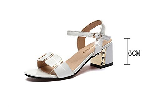 leather pantoufles ¨¦l¨¦gantes White Summer Ladies with avec Festival sandals des pengweiRough 1q58wC