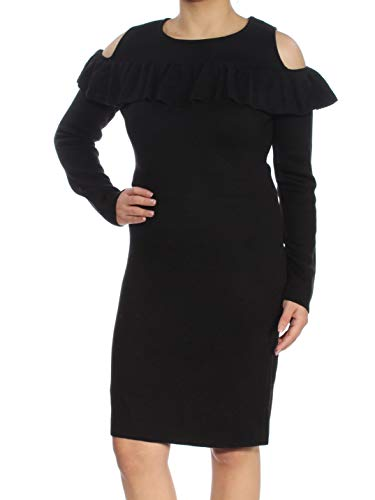 CATHERINE CATHERINE MALANDRINO Women's Brigid Dress, Black Beauty, - Malandrino Catherine Cashmere