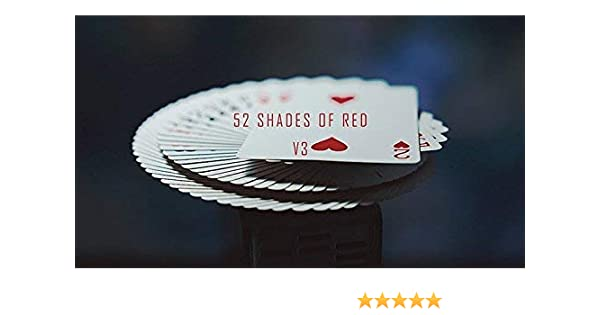 1 DECK 52 Shades of Red Shin Lim Card Magic playing cards magic tricks Gimmick