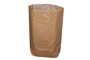 d0c7655d896a4 Papiersack - 2-lagig - 120 Liter - 70 x 95 + 20 cm (10 Stück ...