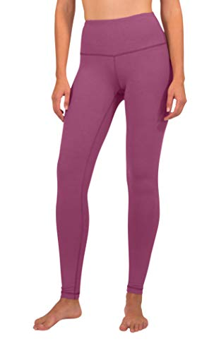 90 Degree By Reflex - High Waist Power Flex Legging - Tummy Control - Plum Wine - Medium