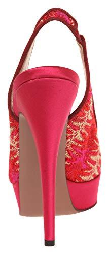 Missoni Toes Femme Rosso Peep SM09 C EPrw8dEq