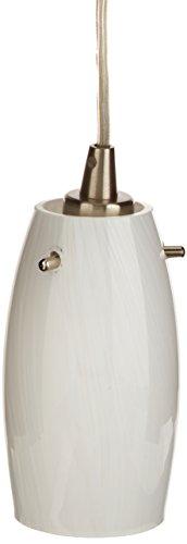 Elk 10223/1COC-LED Favelita 1-LED Light Mini Pendant with Coconut Shade, 3 by 6-Inch, Satin Nickel Finish
