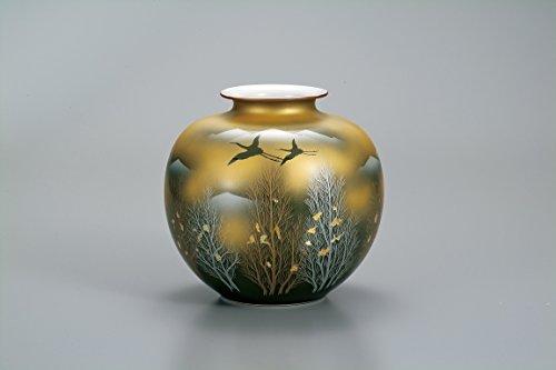 Kutani Japanese Drawn Ceramic Porcelain Ware. Japanese Ikebana Flower vase. Japanese Ceramic Hagiyakiya 1045