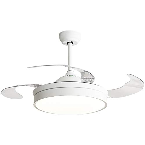 Outdoor Ceiling Fan Light 36 Inch/42 Inch Modern Minimalist Restaurant Invisible Fan Light Living Room Home with Light Bedroom Ceiling Fan Light Ceiling Fan Light Kits ( Color : White , Size : 91cm ) (Best Outdoor Ceiling Fans 2019)