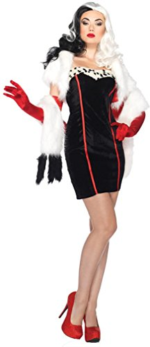 Cruella deVille Adult Costume - Small/Medium ()
