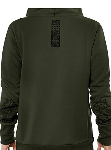 Cromoncent Mens Long Sleeve Hoodie Slim Pullover Fake Two Sweatshirts