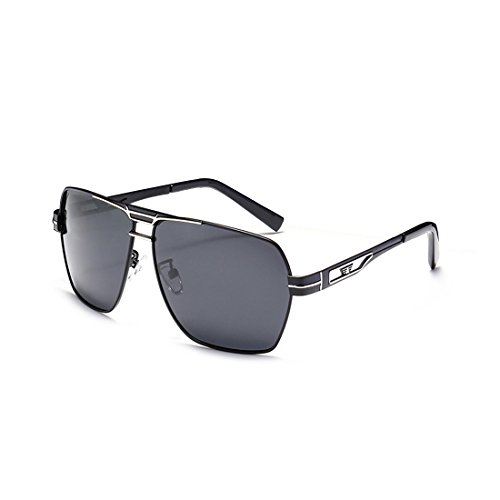 Lens Men's Vintage Black black Sun Grey Men silver UV Eyeglasses Accessories Sunglasses Travel Sunglasses Eyewear Driving Glasses Frame Fauhsto Protection For Polarized Square 8q1nH5
