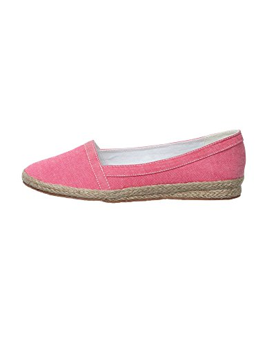 Cotton Traders Womens Ladies Shoes Comfortable Wedge Slip-On Pumps Easy Fit Pink DhZ1a