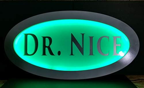 Custom Oval LED Wall Sign Neon Like - Color Changing Remote Control - 5 ()